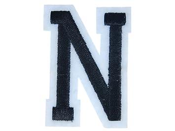 Buchstaben Initialen Alphabet ABC Bügelbild Patch Miniblings 5cm Buchstabe N Basteln & Kreativität