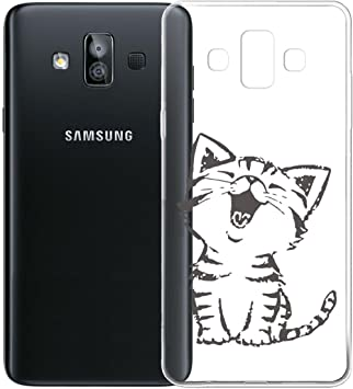 HYMY Coque Samsung Galaxy J7 Duo 2018 Silicone TPU Bumper Housse Etui Case de Protection Premium Soft Cover Shell Souple pour Samsung Galaxy J7 Duo ...