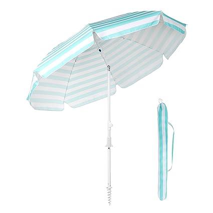 Amazon.com: Sekey - Paraguas de playa con mecanismo de ...