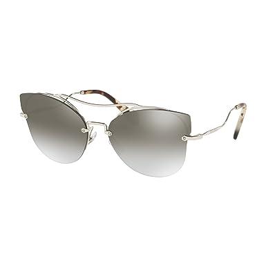 c7440aa0bbe MIU MIU Scenique Butterfly Silhouette Sunglasses in Silver Mirror MU 52SS  1BC5O0 62  Amazon.co.uk  Clothing