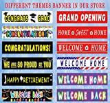 Colormoon Large Harry Potter Happy Birthday Banner, Harry Potter Themed Party Supplies, Harry Potter Flags Garland Photo Prop Decorations Outdoor Indoor