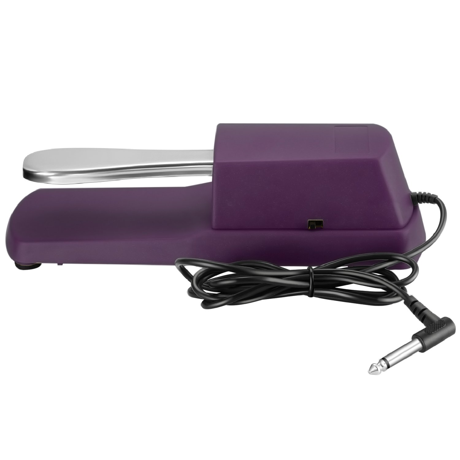Neewer Universal Musical Sustain Foot Pedal with Polarity Switch Design, Compatible with Any Electronic Keyboard Piano with 1/4-inch Plug (Purple)