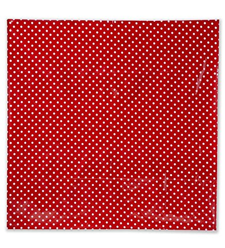 Magic Cabin Red and White Polka Dot Splash Mat Arts Crafts Painting Floor Table Protection Easy Wipe Clean 4' FT x 4' FT