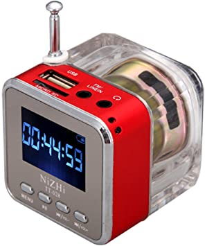 NIZHI TT-028 - Caja de música portátil (USB, TF, tarjeta micro SD ...