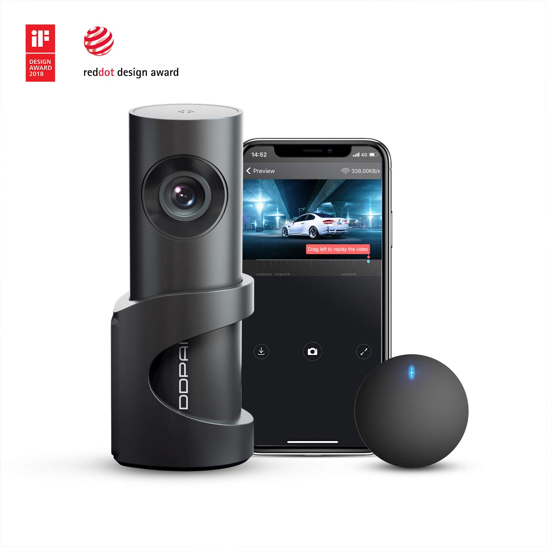 Dash Cam DDPAI Mini3 Dashboard FHD 1600P Car Camera DVR Recorder with 32g eMMC Storage, Night Vision,Wide Angle, G-Sensor, WDR, Loop Recording