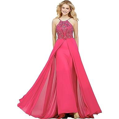 Jovani Open Back Beaded Formal Dress Pink 0