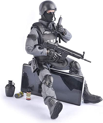 1//6th Scale Army Soldier Action Figure Model Toy SWAT Team Man with Accessories