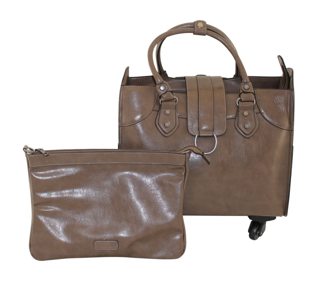 Simply Noelle Saddle Roller Bag, Taupe