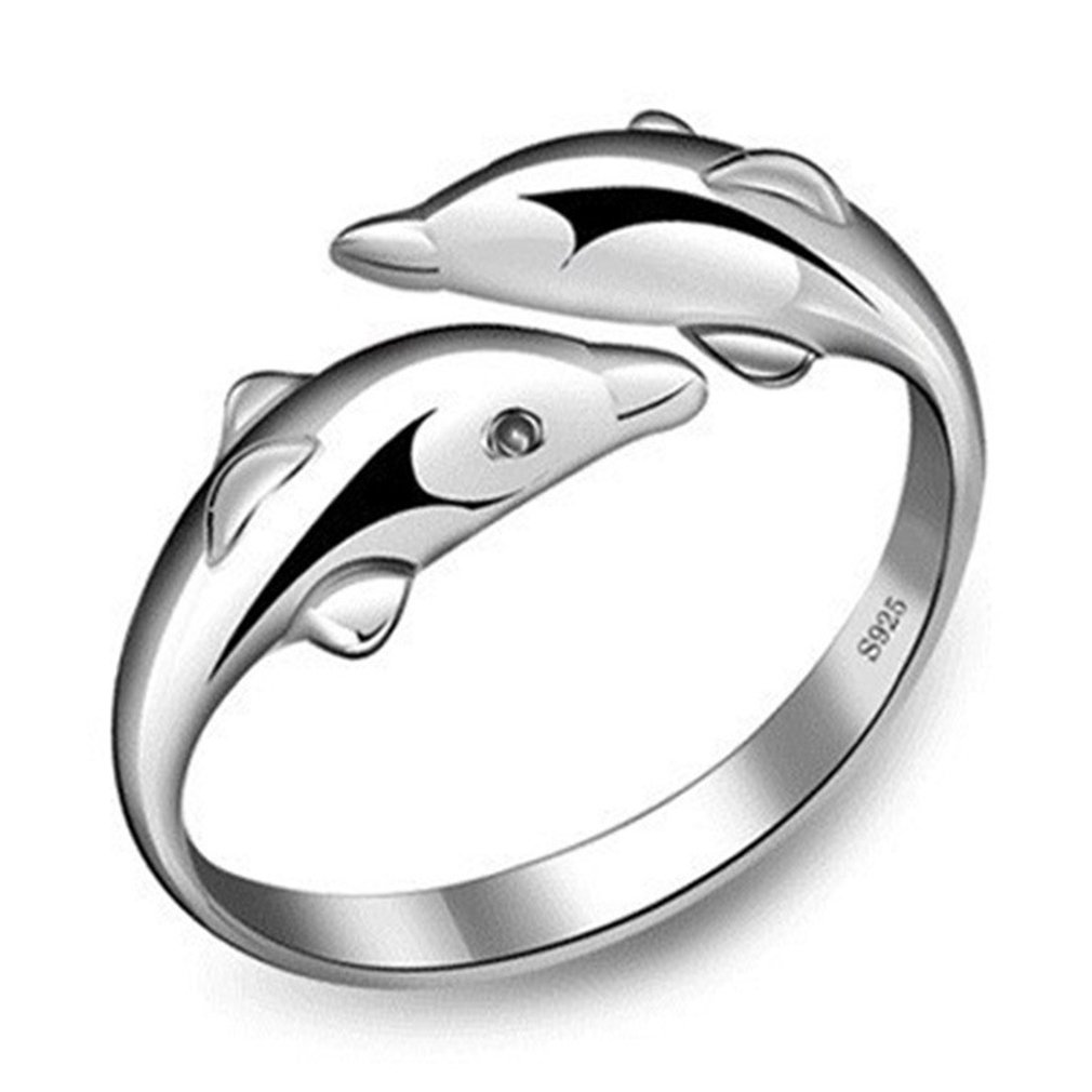 Dolland Dolphin Ring Adjustable Engagement Open Rings