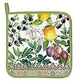 lemon oven mitt - Michel Design Works Cotton Potholder, Tuscan Grove