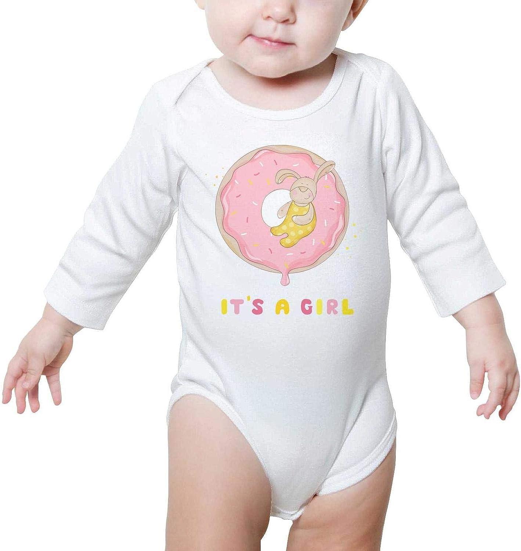 XMBUY Pink Magic Donut Baby Onesies Clothing Organic Cotton University Kids Boys Girls Fashion Baby Onesie Long Sleeve