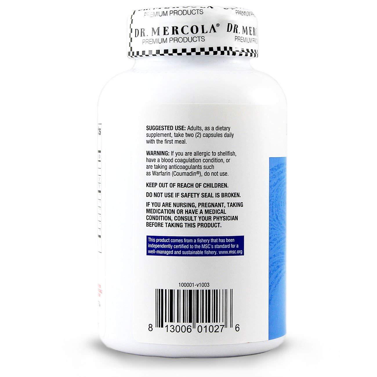 Krill Oil, 180 Fish Gelatin Caplique Capsules by Dr Mercola: Amazon.es: Salud y cuidado personal