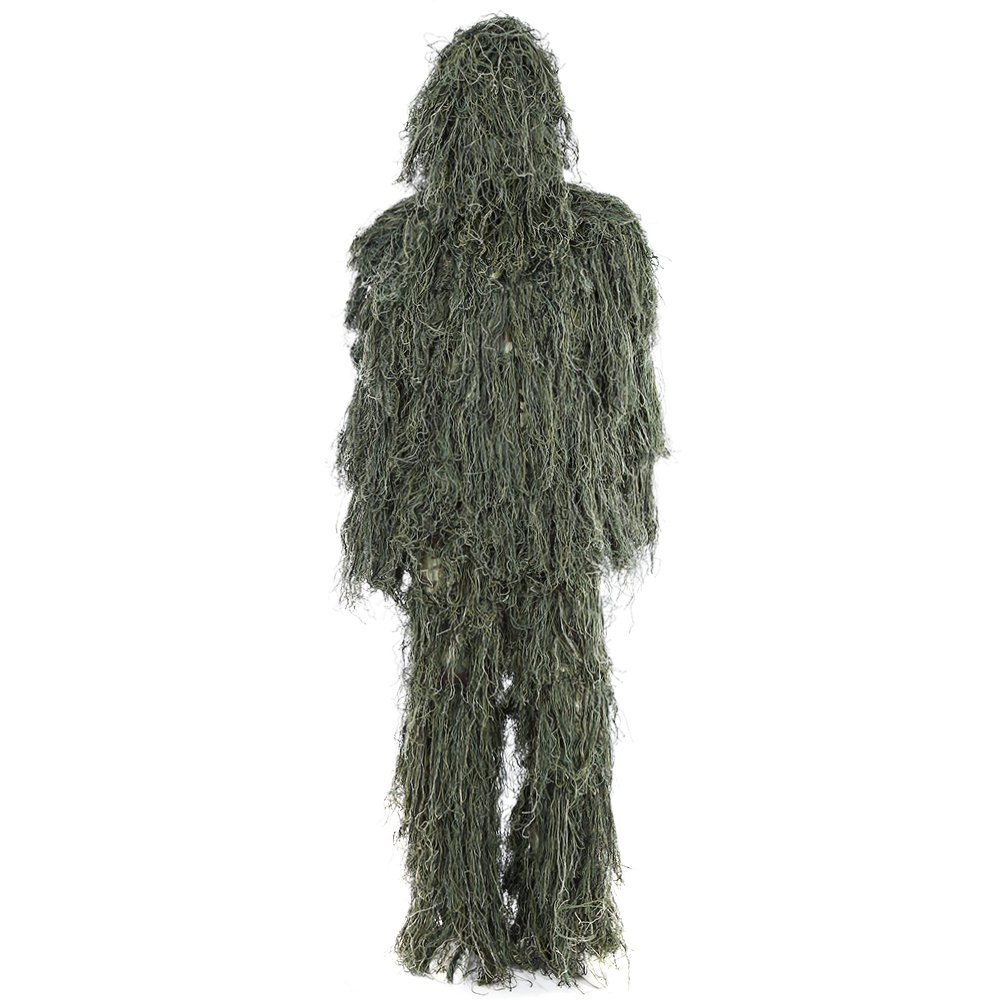 3D Yowie mimetico giungla caccia Ghillie Suit set Woodland Sniper Birdwatching poncho vestiti verde Top of top store