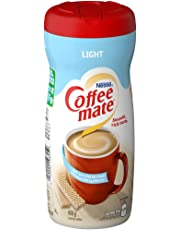 COFFEE-MATE Powder Light (50% Less Fat), Coffee Whitener, 450g Canister