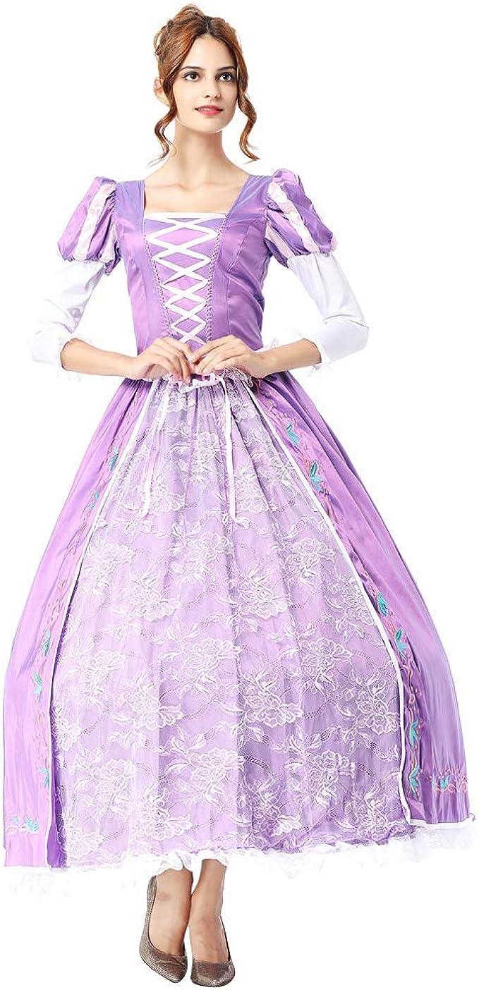 OwlFay Disfraz Rapunzel Mujer Vestido de Princesa Sofia Traje de ...