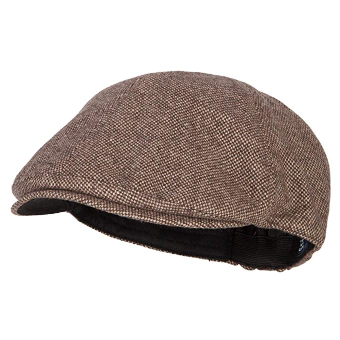 cf7d968e2 e4Hats.com Men's Polyester Wool Blend Ivy Cap - Brown OSFM at Amazon ...