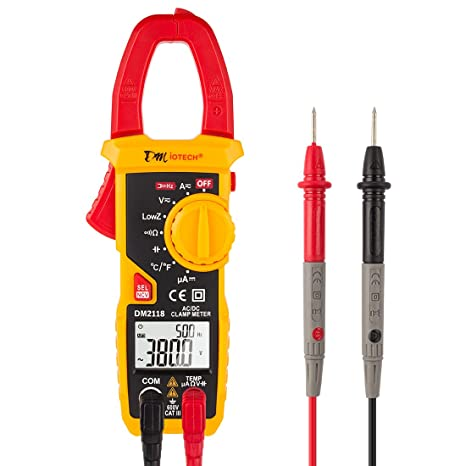 uxcell 600v digital clamp meter multimeter ac dc volt amps ohm rh amazon com Hand Held Fans Hand Held Vice Grip