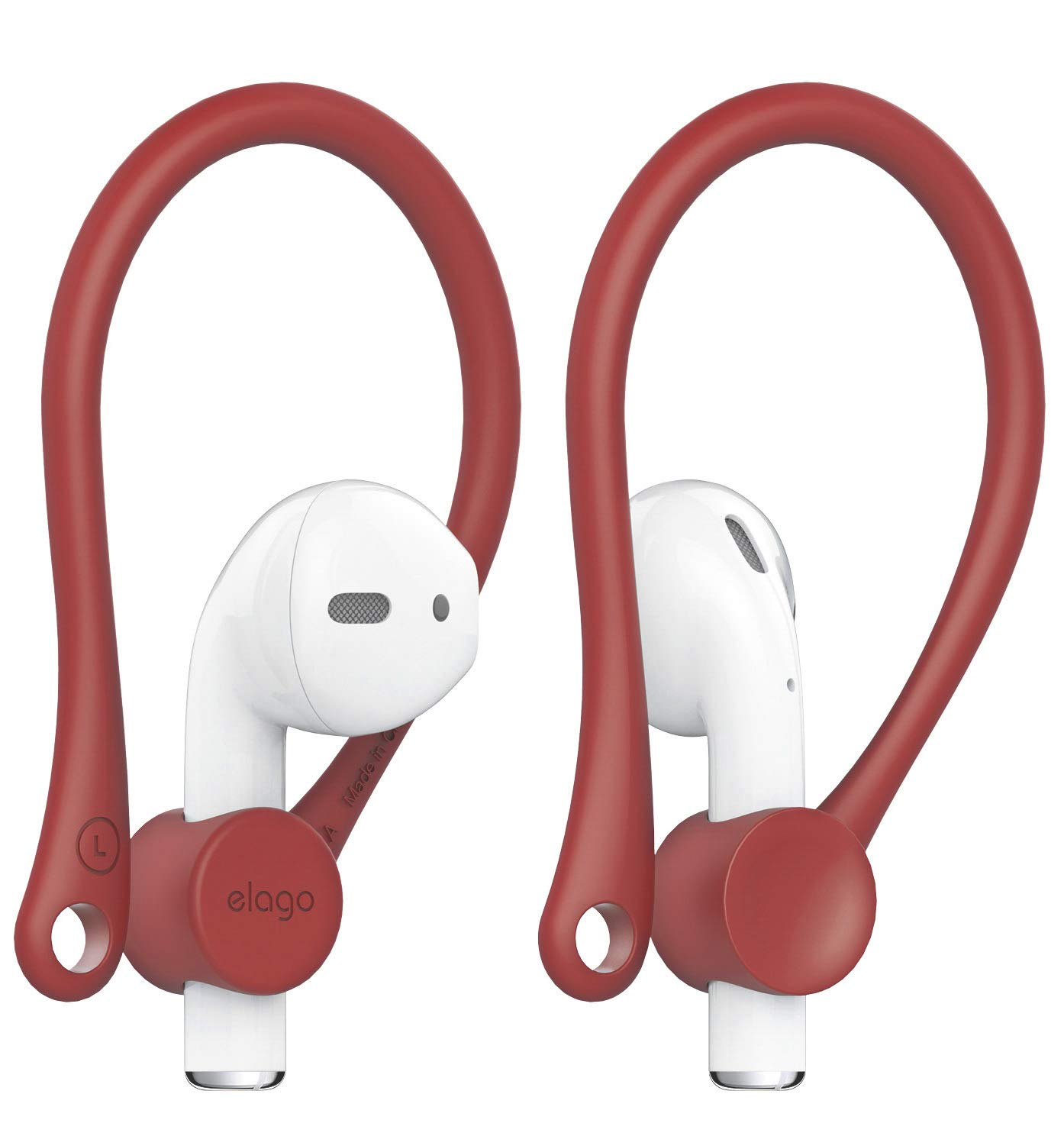 Hook-shaped  Red Ear Hooks for AirPods