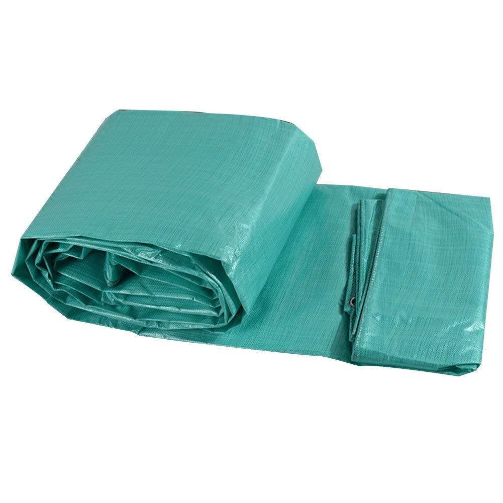 19-yiruculture 防水布防水防水シートトラック防水シート屋外サンシェード防塵防風高温アンチエイジング (Color : 緑, サイズ : 10x15M) 緑 10x15M