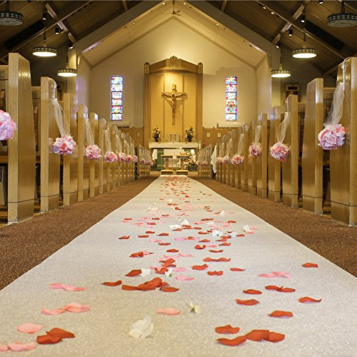 FIREFLY Non-Woven Wedding Aisle Runner, Premium, 36-inch x 100-ft by Party Spin