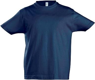 SOLS - Camiseta de manga corta - para niño Azul azul marino 10 años: Amazon.es: Ropa y accesorios