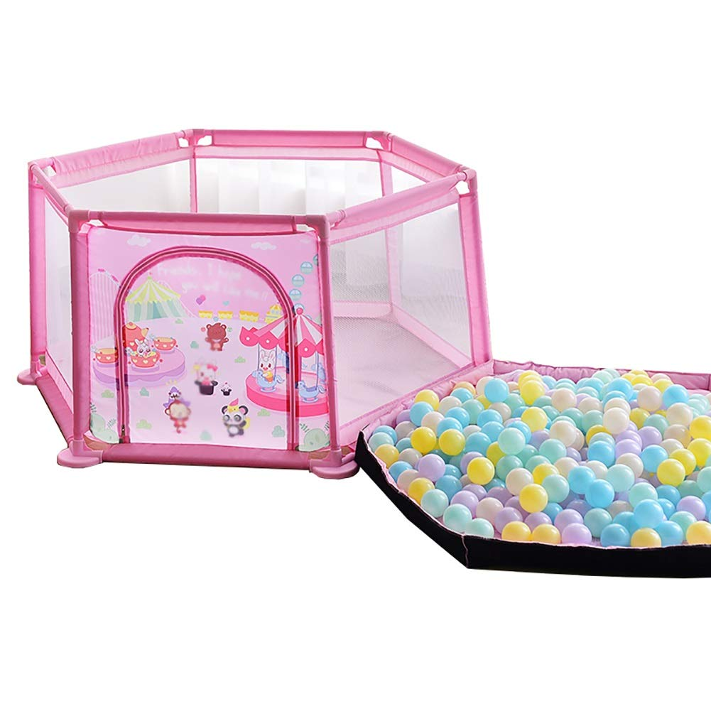 人気を誇る 幼児と子供の飛散防止用の防護柵ベビーゲームベビーサークルおもちゃの家屋内用小型マットと200オーシャンボールの小さなオーシャンボールプール (色 : Pink) Pink Pink Pink) : B07MKL7LNK, ハヤシマチョウ:024d2dff --- a0267596.xsph.ru