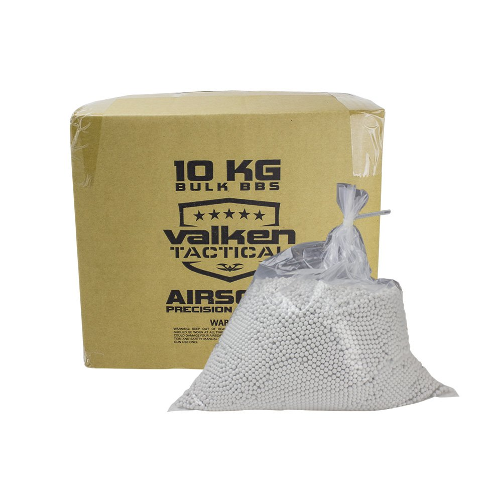 Valken Tactical 0.20G BIO Precision Airsoft BB-10kg Bulk Box-White by Valken Tactical