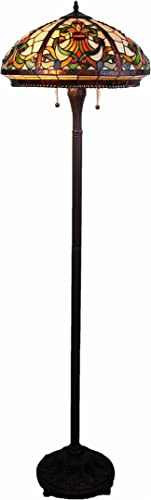 Tiffany Style Stained Glass Floor Lamp Templeton