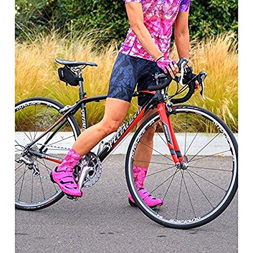 (Shebeest 2018 Women's Petunia La Toile Bib Cycling Short - 3099-LT (La Toile-Iron - SM))