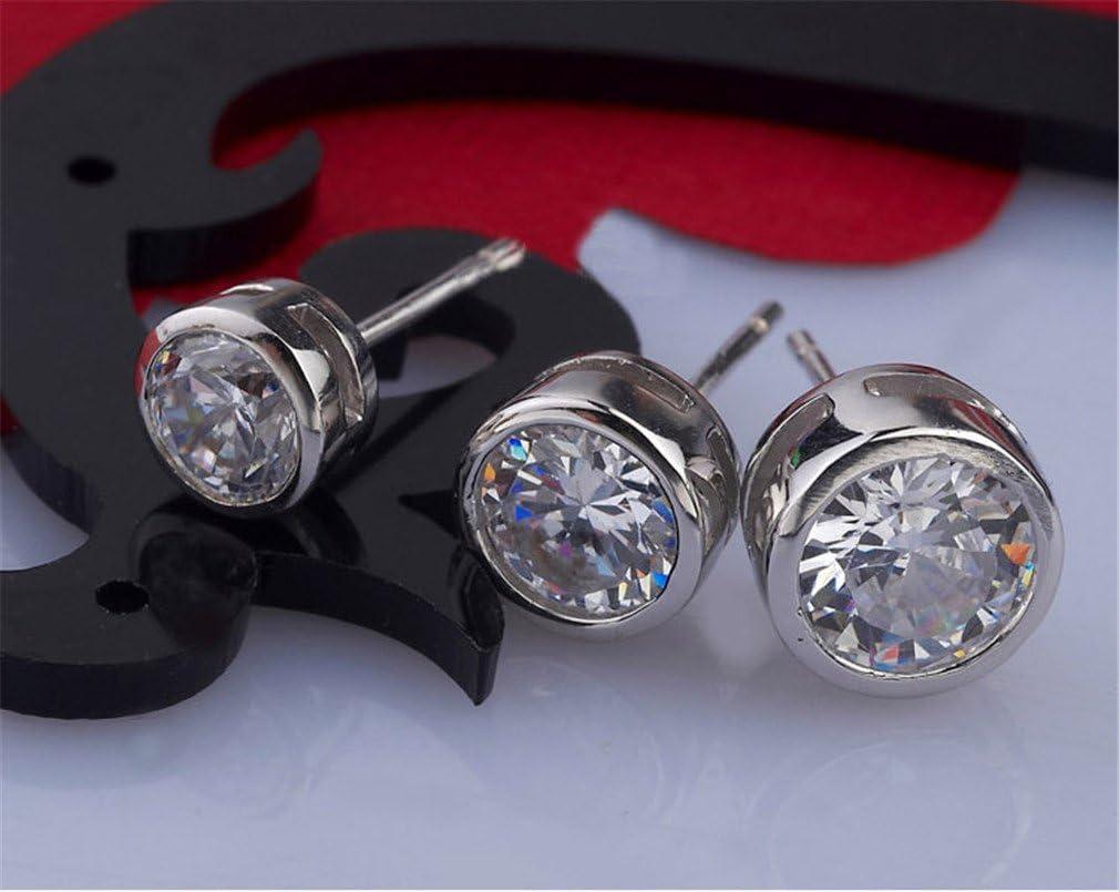 Wiftly Unisex Damen herrren Schmuck Ohrringe Ohrstecker Punk/&Rock Super Flash Zircon Earrings rot