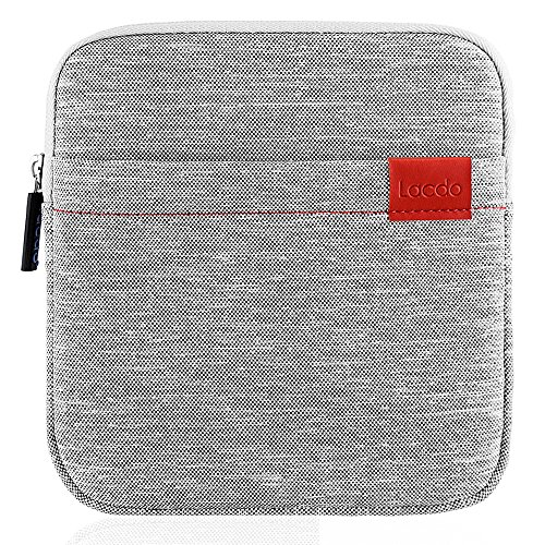 (Lacdo Waterproof External USB CD DVD Writer Blu-Ray Protective Storage Carrying Case Bag Compatible Apple MD564ZM/A SuperDrive,Magic Trackpad, Samsung/LG/Dell/ASUS/External DVD Drives, Gary)