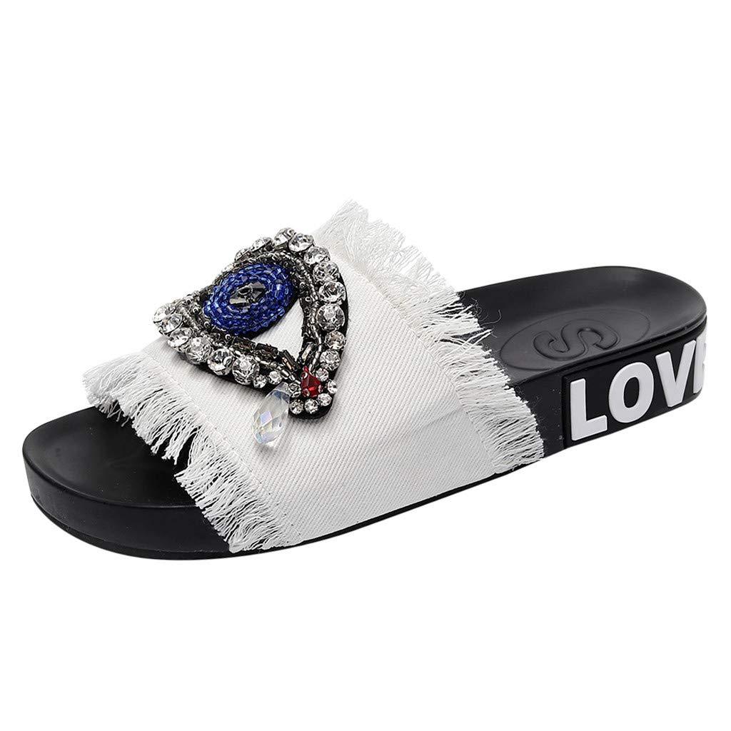 Caopixx Flat Elastic Sandals for Women 2019 Summer