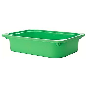 TROFAST Caja de almacenaje 42 x 30 x 10 cm plástico cajón Organizador de los niños de IKEA, Verde, 32x42x10 cm: Amazon.es: Hogar