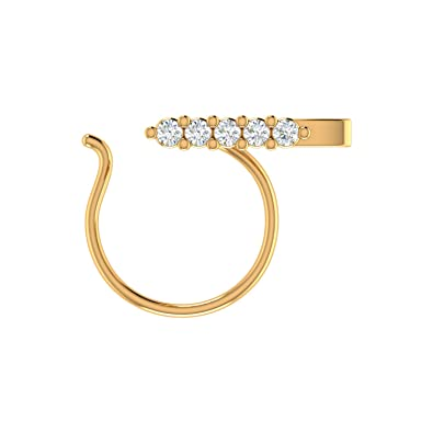 af79ef57095461 Buy Voylla Silver and Cubic Zirconia Silver Women Accessories for Women  (Golden)(8907617505527) Online at Low Prices in India