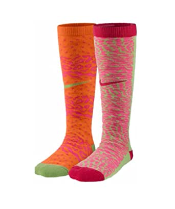 timeless design ae41d acc5b NIKE 2 PACK GRAPHIC KNEE HIGH SOCKS - GIRLS  3Y-5Y