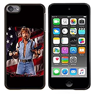 LECELL--Funda protectora / Cubierta / Piel For Apple iPod Touch 6 6th Touch6 -- Hombre Tough Usa la bandera de América de la Serie del arma --