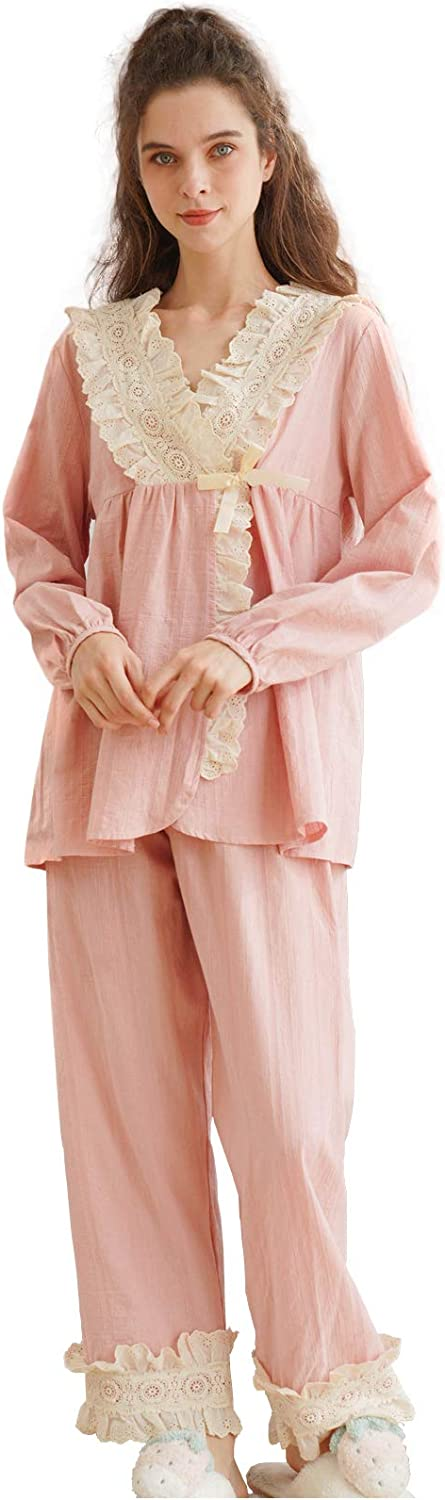 Vintage Nightgowns, Pajamas, Baby Dolls, Robes Victorian Princess Style Cotton Nightgown for Women Vintage Palace Sleepwear $42.99 AT vintagedancer.com