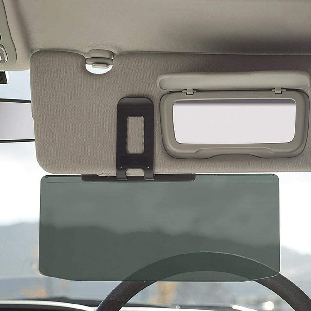 rosemaryrose Car Anti Glare Driving Shading Mirror Auto Anti-Glare Clip-on Sunshades Car Sun Visor Extension