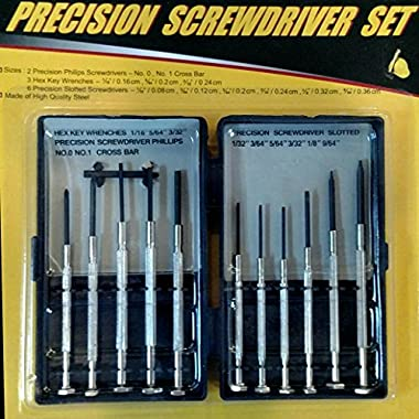 Precision Screwdriver Set 11 piece for Electronics, Watches, Jewelry