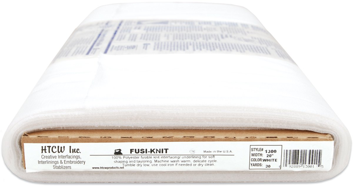 HTC Fusi-Knit Fusible Tricot Interfacing Tailoring Underlilne, 20-Inch by 30-Yard, Black 1300-B