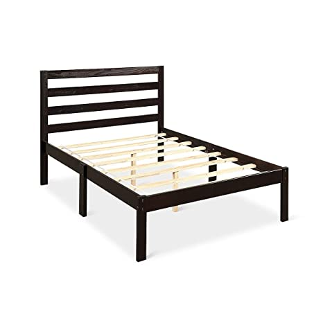 Wooden Twin Size Bed.Amazon Com Kanizz Contemporary Guest Kids Room Bedroom Wood