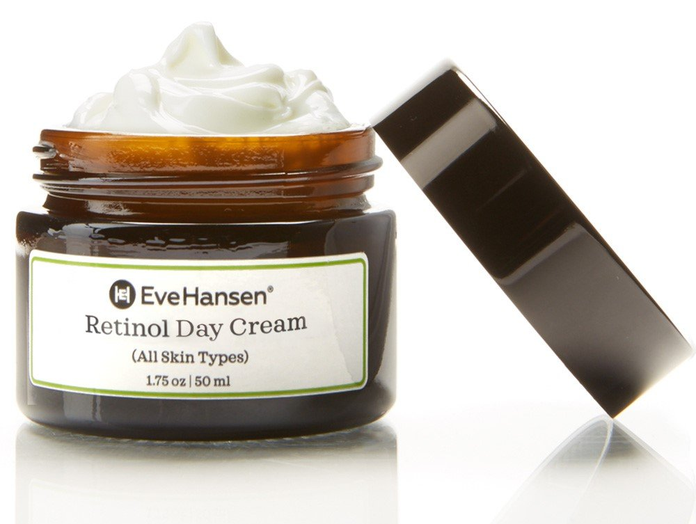 Retinol Day Cream by Eve Hansen. Look Youthful With Natural Retinol Moisturizer's Anti Aging Properties. Promotes Skin Tightening And Rejuvenation. Vitamin A Cream For Fine Lines and Wrinkles.