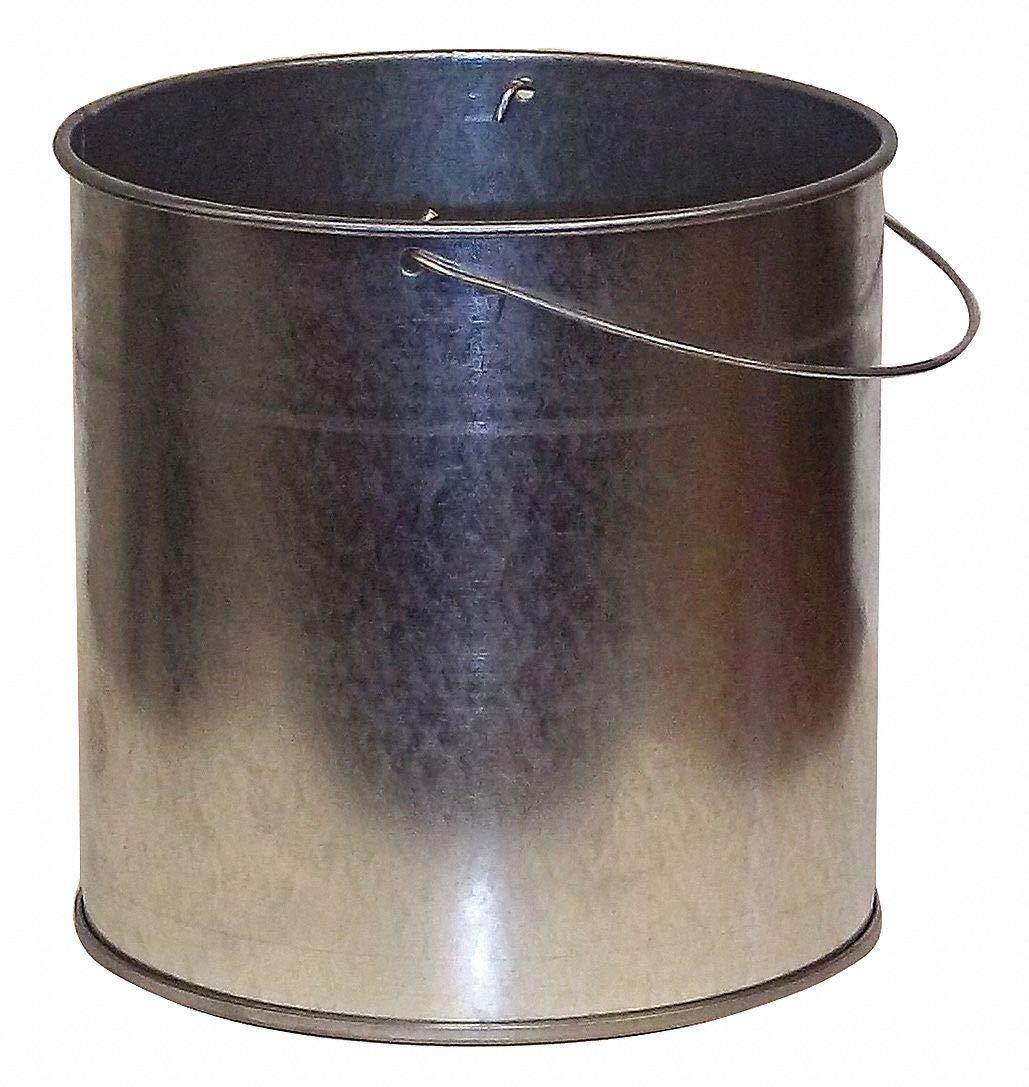 1 gal. Silver Ash Pail, 11'' Length, 11'' Width, 9'' Height