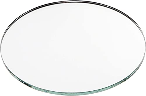Plymor Round 3mm Non-Beveled Glass Mirror, 4 inch x 4 inch Pack of 24