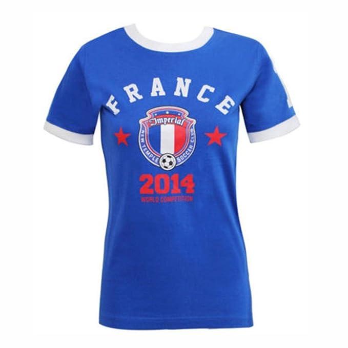 Fashion 4 Less - Camiseta de fútbol para Mujer, diseño de la Copa del Mundo