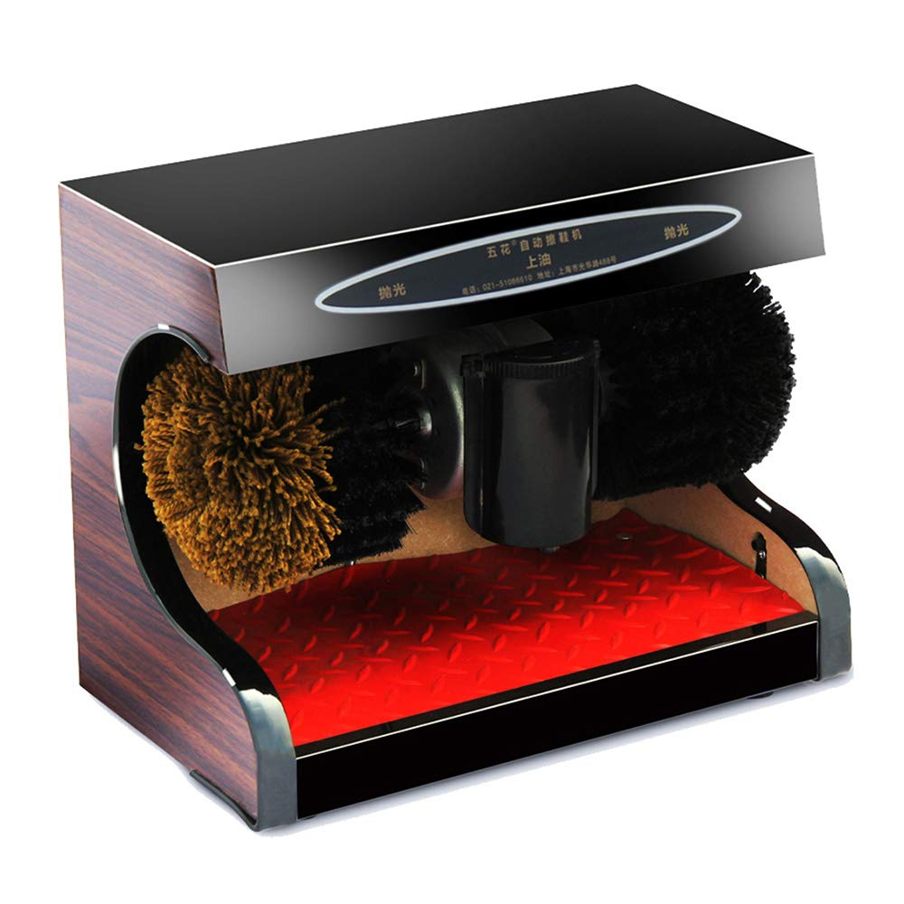 Feifei Shoe Polisher Fully Automatic Electric Sensor Shoe Polisher Shoe-Changing Bench 2 Rotating Cleaning Brush Cotton,45W Non-Slip