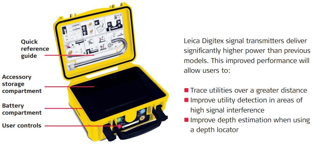Leica Digicat 550i bundle with carry bag by Leica Geosystems