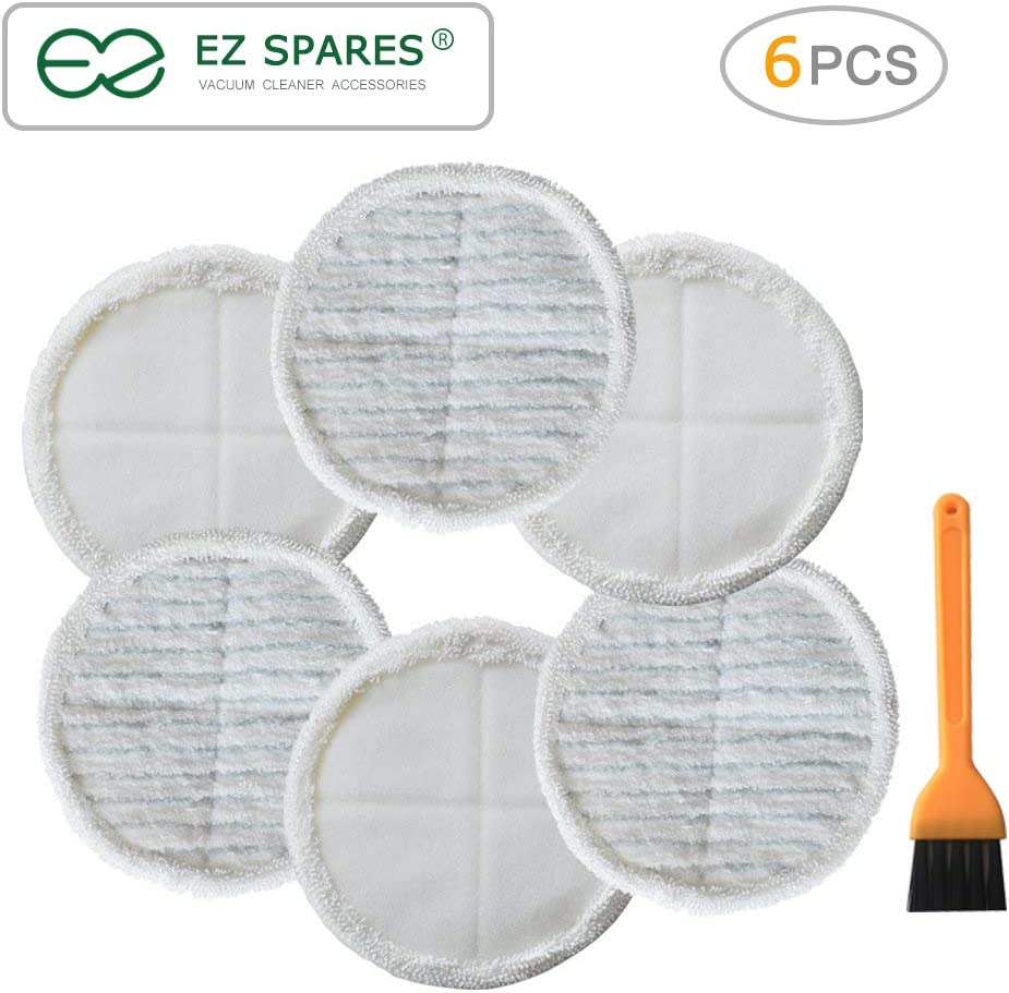 EZ SPARES Replacement for Bisel Spinwave Steam Mop Pad Kit 2039A 2124,Wet Mopping Vacuum Cleaner Accessories Spare Parts,Mopping Cloths(6 Pcs)