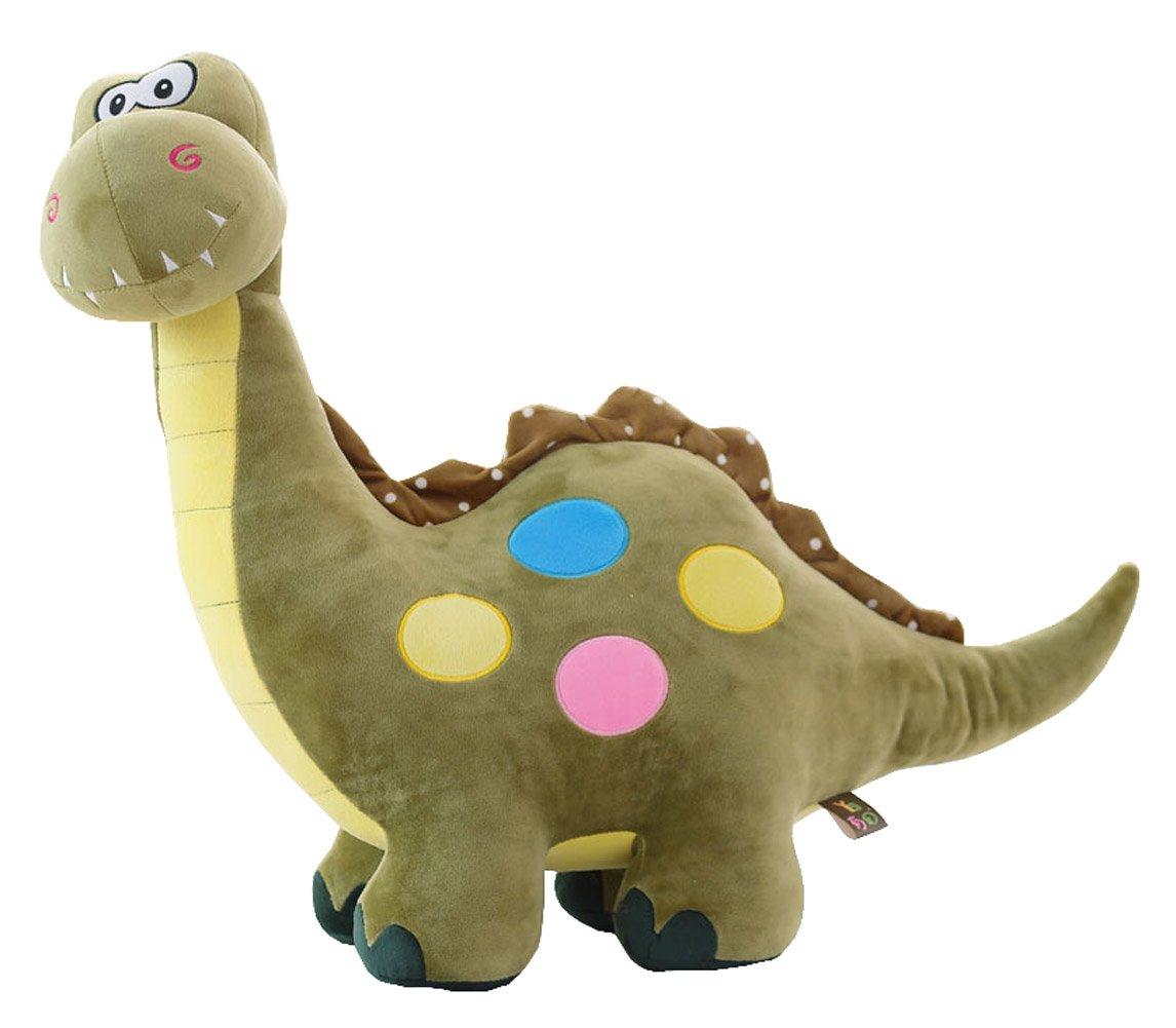 Cuscino morbido regalo novità Dinosauro bello giocattolo farcito Bambola carino peluche (L) 21.6  Black Temptation
