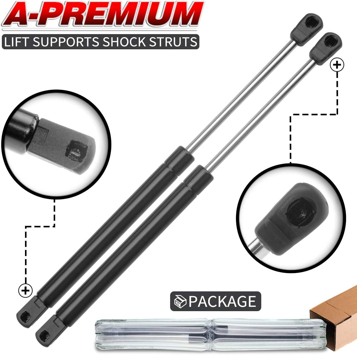 A-Preimum Hood Lift Supports Shock Struts Replacement for Mercury Grand Marquis 1998-2005 Sedan 2-PC Set